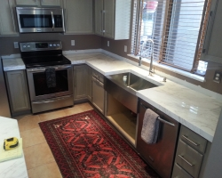 Remodeled Kitchen in Stainless Steel & Grey